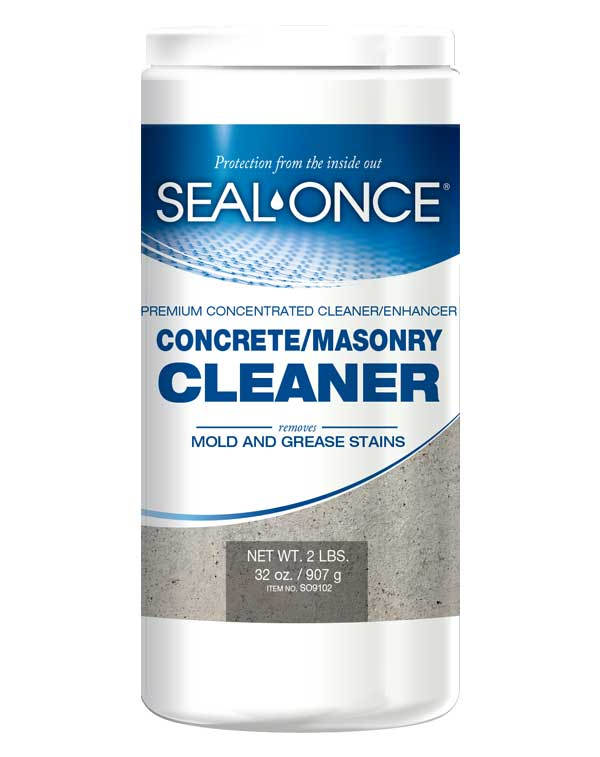 Eco friendly concrete sealers masonry coatings seal once for Organic concrete cleaner