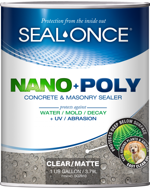 seal once nanopoly concrete and masonry sealer-