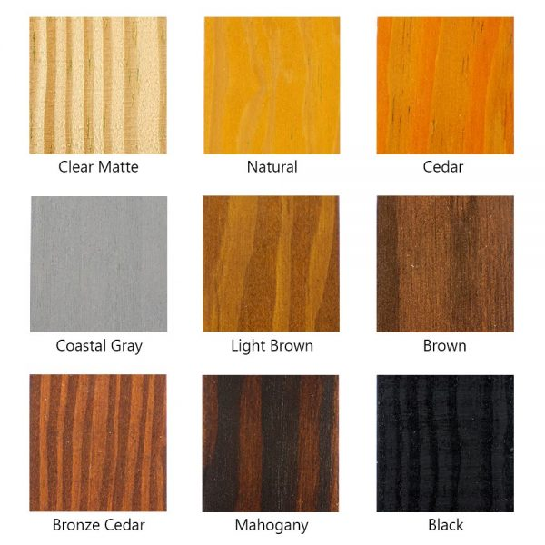 ready mix color samples1- SEAL-ONCE wood stain color samples for testing on your project.