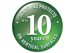 Seal and Protects on vertical surfaces for up to 10 years