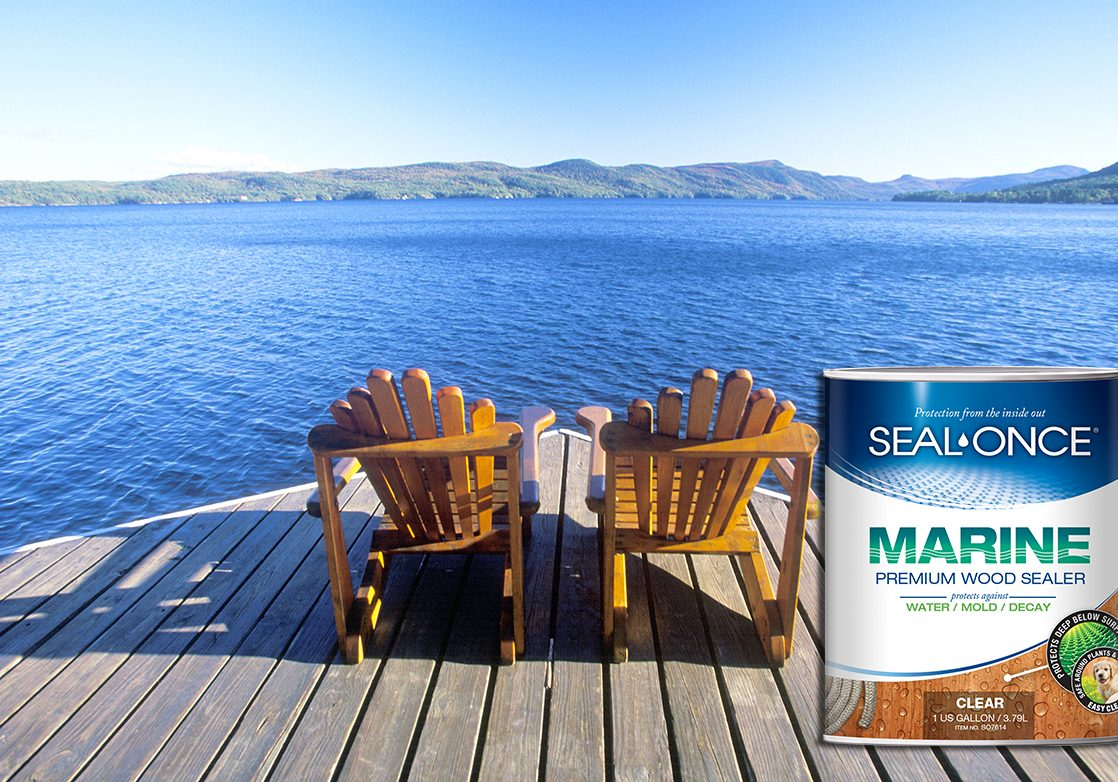 Seal-Once Wood Dock Stain & Dock Sealer